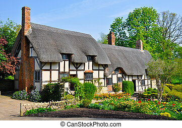 Anne Hathaway's Cottage, UK - The famous childhood home of...