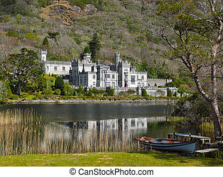 Kylemore Abbey, Ireland - This picturesque abbey in Galway,...