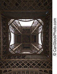 The Inside of the Eiffel Tower Paris, France