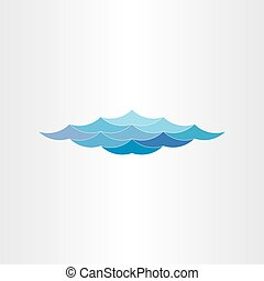 abstract blue water waves sea or ocean