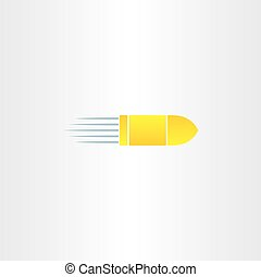 golden bullet vector icon design symbol