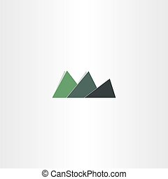 green mountain icon abstract logo design element