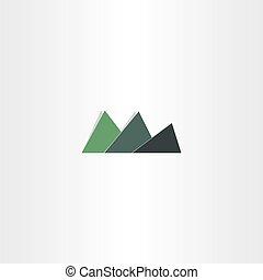 green mountain icon abstract logo design element