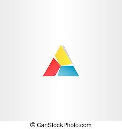 red yellow blue triangle business logo design