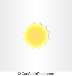 soft light yellow sun icon design