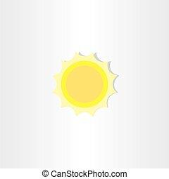soft light yellow sun icon design