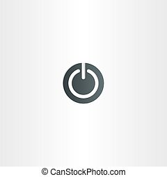 start vector icon power symbol button
