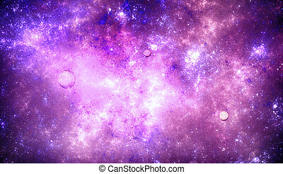 Deep space nebula with stars