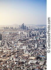 Downtown cityscape of Seoul - Downtown cityscape of Seoul,...