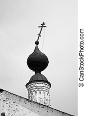 Falling cross destroyed the old Orthodox Church of the black...