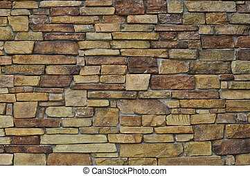Multi Color Stone Wall used for Background - Modern Multi...