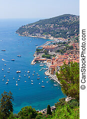cote dAzur, France - coast and turquiose water of cote...