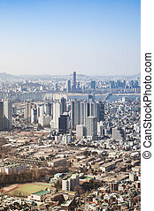 Downtown cityscape of Seoul. - Downtown cityscape of Seoul,...