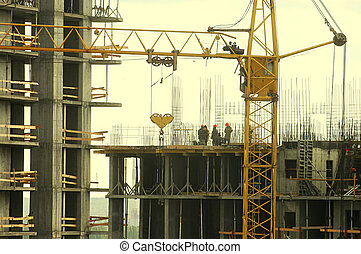Silhouette of construction worker 3
