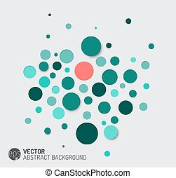 Vector abstract background with blue circles