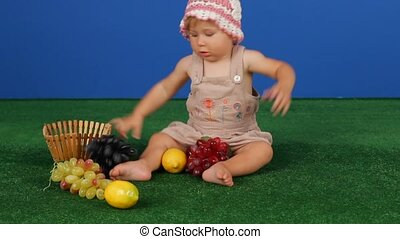 Girl Playing With Fruit