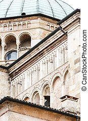 detail of Parma Cathedral, Emilia-Romagna, Italy