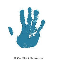 Hand Print - Vector Illustration of a Hand Print