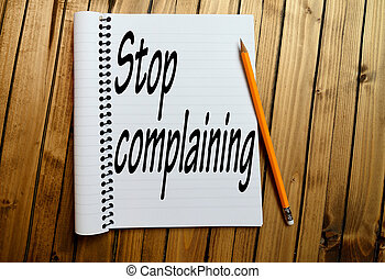 Stop complaining word on notepad