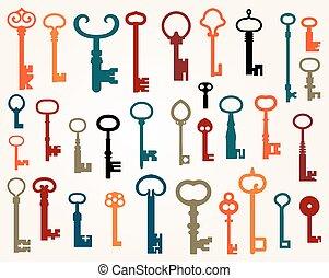 Set of old keys