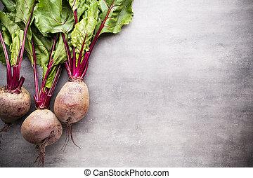 Beet harvest. - The new beet harvest. Still life.