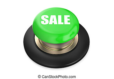 Sale Green button isolated on white background