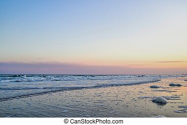 Atlantic Ocean Background - The sunsets on the South...