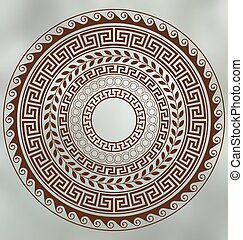 Greek ancient art - Meander and wave. Ancient Greek borders....