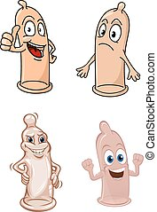 Cartoon funny latex condoms characters - Funny cartoon latex...