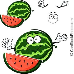 Watermelon fruit cartoon isolated character
