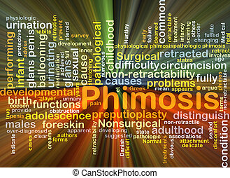 Phimosis background concept glowing - Background concept...