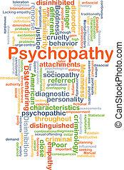 psychopathy, concepto, Plano de fondo