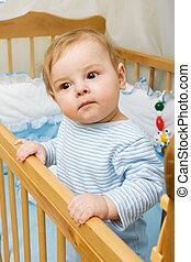 Little boy - Portrait of cute little boy in his crib