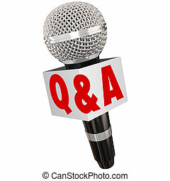 Q and A Microphone Interview Questions Answers Talking Reporter
