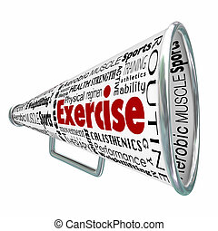 Exercise Bullhorn Megaphone Coach Training Physical...