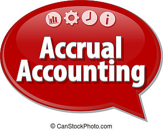Accrual accounting Business term speech bubble illustration...