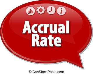 Accrual rate Business term speech bubble illustration -...
