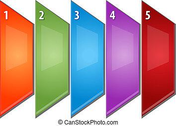 cinco, blanco, empresa / negocio, diagrama, perspectiva,...