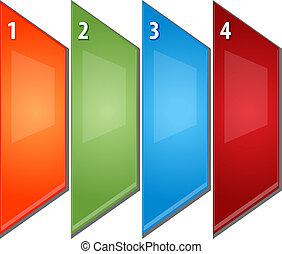 cuatro, empresa / negocio, Ilustración, diagrama,...