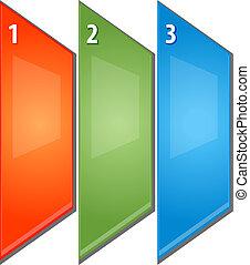 empresa / negocio, tres, Ilustración, diagrama, perspectiva,...