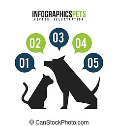domestic animals design, vector illustration eps10 graphic