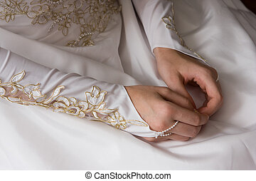 hands of young bride