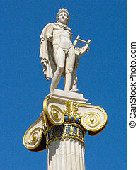 Apollo statue. - Apollo statue at the main entrance of the...