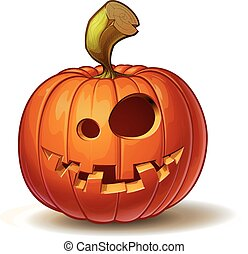 Pumpkins Funny 1 - Cartoon vector illustration of a...