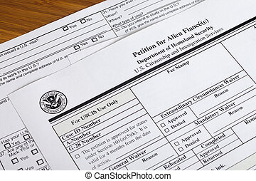 Petition for alien fiance form - US Homeland Security...