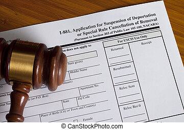 Application Suspension of Deportation or special rule...