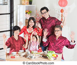 Happy Chinese New Year reunion dinner