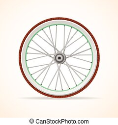 Vector Bicycle vintage wheel - Vector illustration Bicycle...