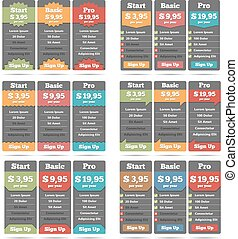 Pricing Table - Pricing table design templates collection,...