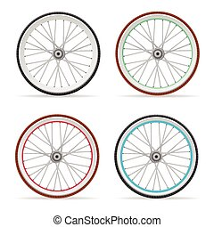 Vector Bicycle wheel set - Vector illustration Bicycle...